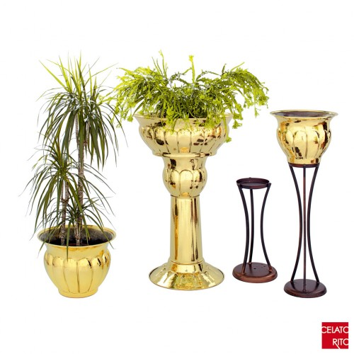 Brass planters - FESONI collection