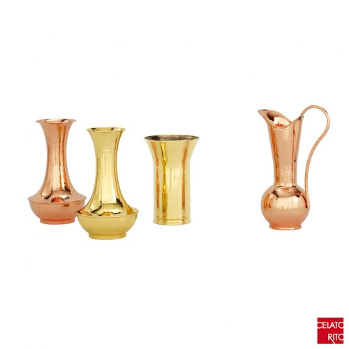 Copper and brass flowerpots ACQUA
