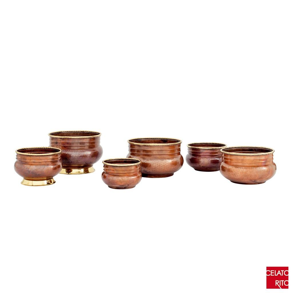 Copper pots ONDULATI