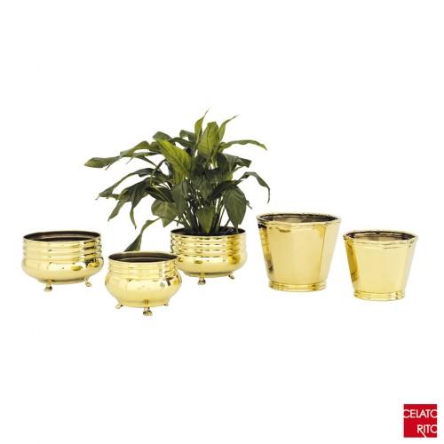 Brass pots ONDULATO