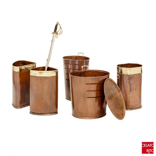Copper umbrella stands CORAZZA collection