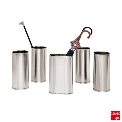 Satin steel umbrella stands TORINO