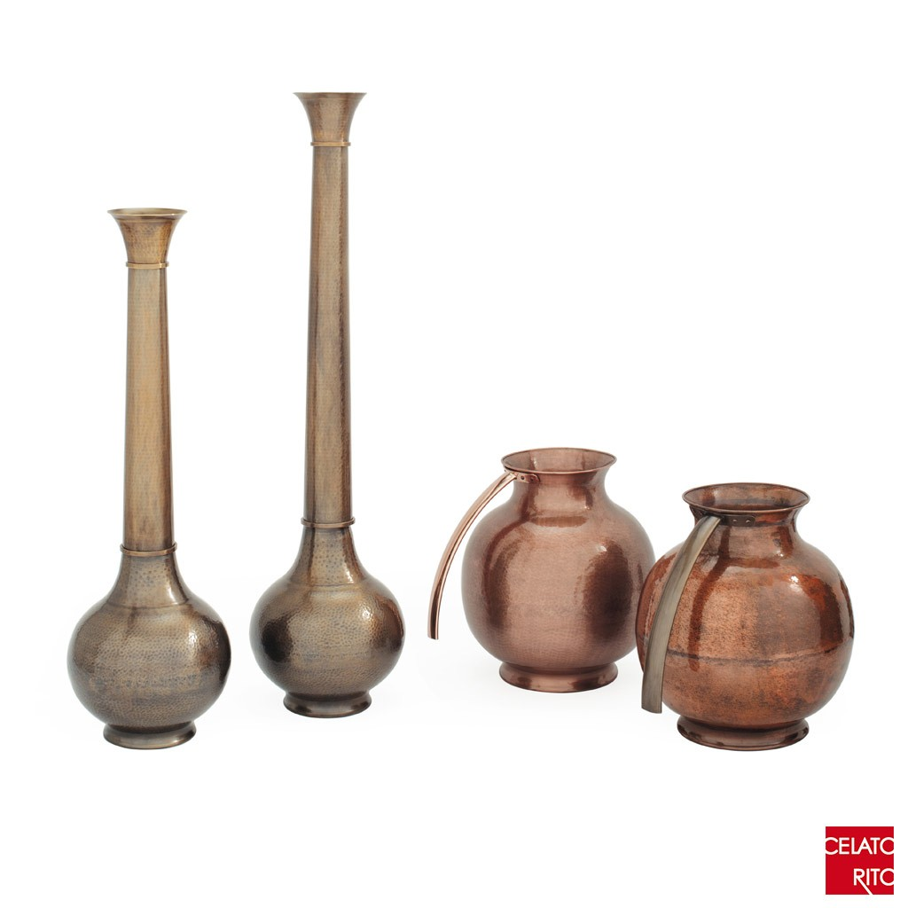 Copper and brass vases SFERA