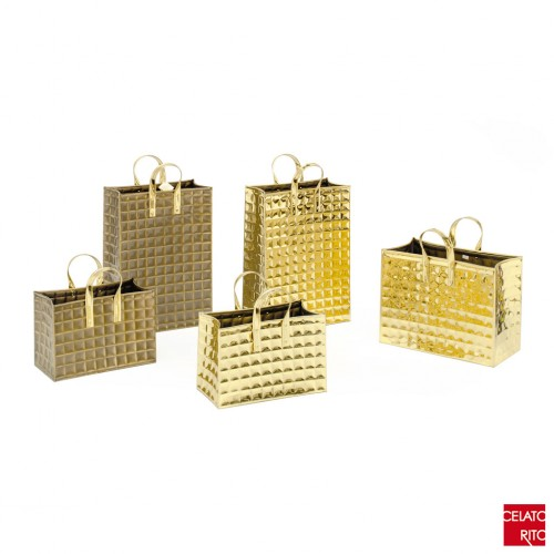 BORSE QUADROTTI collection - brass
