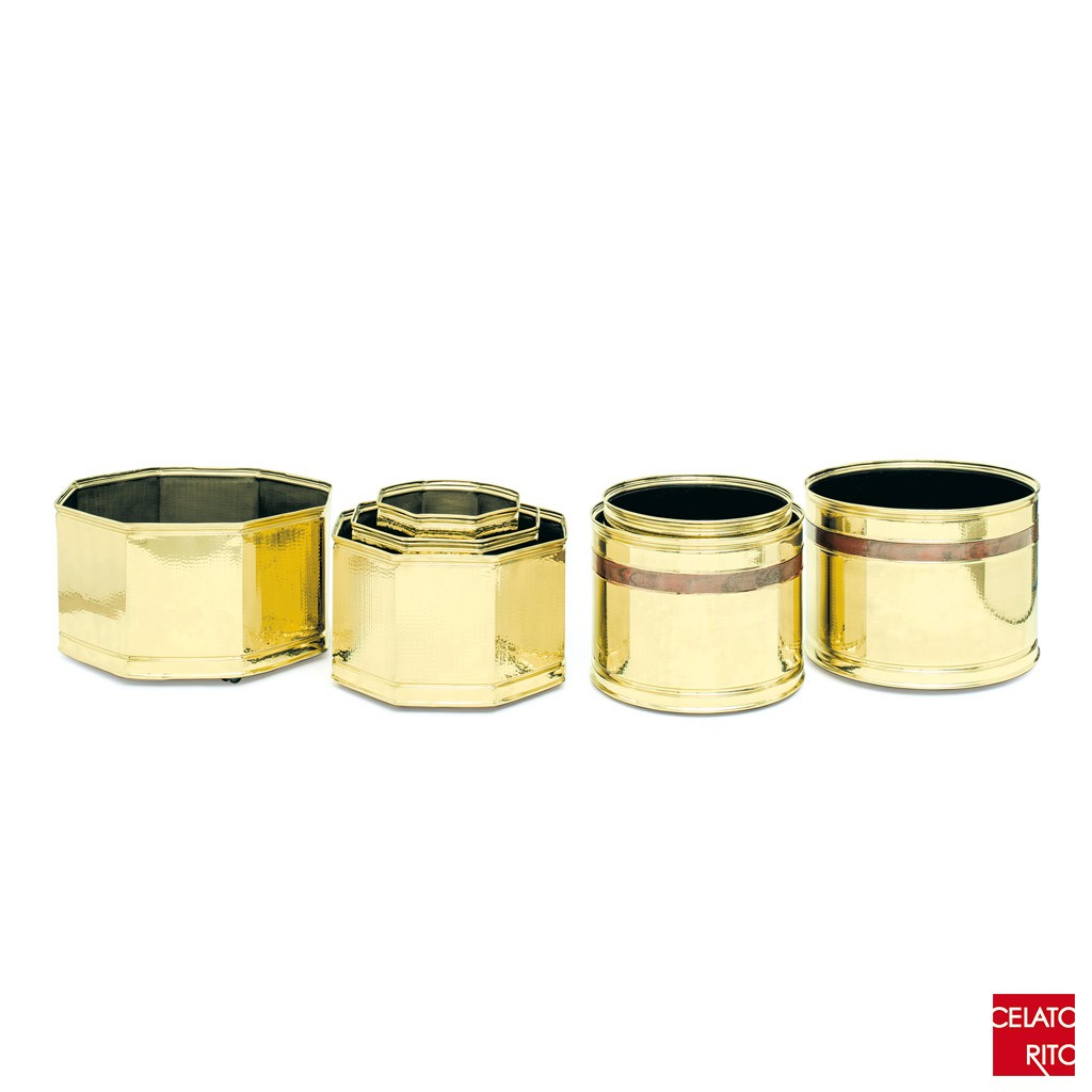 Brass planters TRIESTE collection
