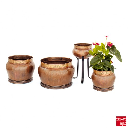 Copper planters ARABESCO