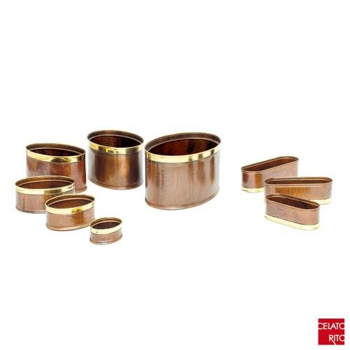Copper planters OVALI