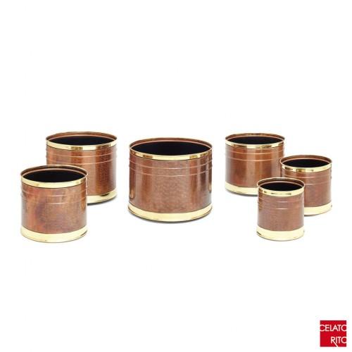 Copper planters CILINDRO DOPPIO