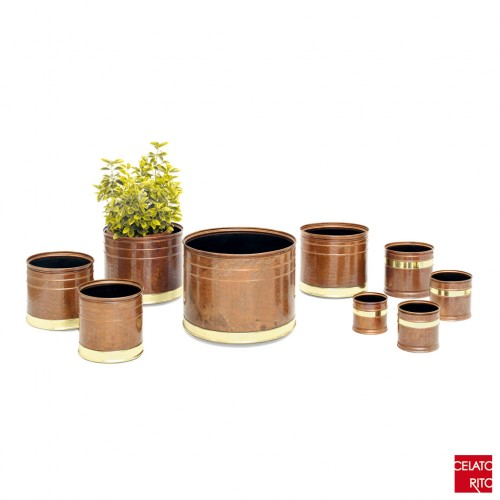 Copper planters CILINDRO