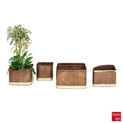 Copper planters QUADRATE/ANGOLARI