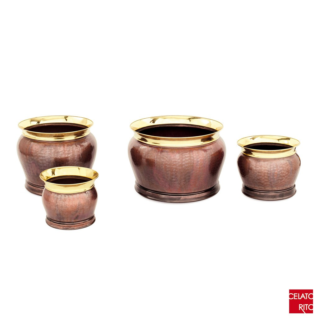 Copper planters CORONA collection