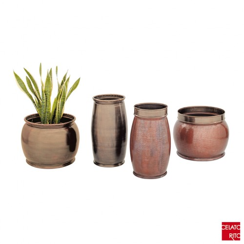 Copper planters MILANO collection
