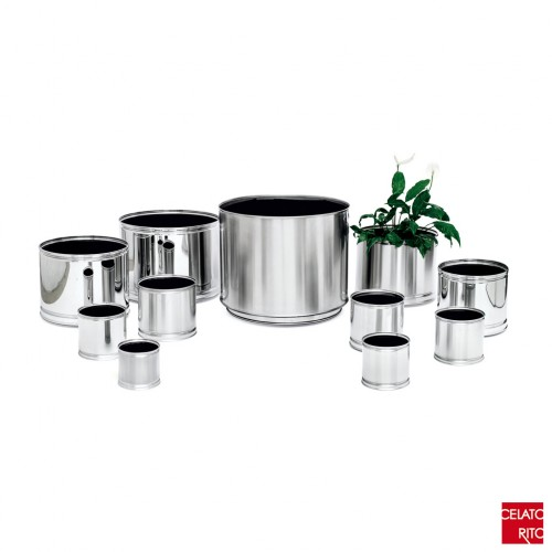 Steel planters CILINDRO