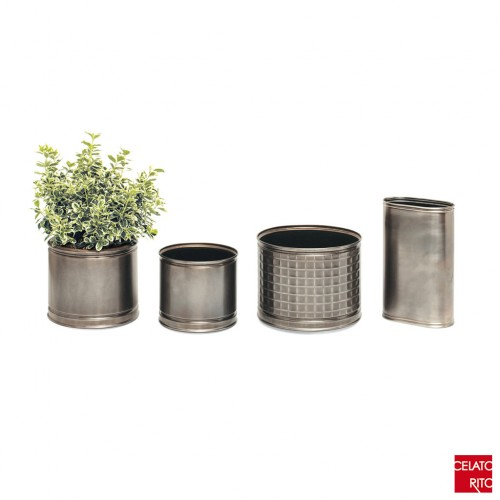 BURNISHED STEEL Planters