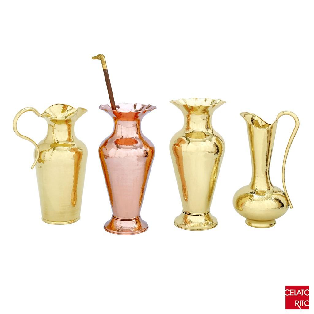 Brass/copper amphorae FIORE